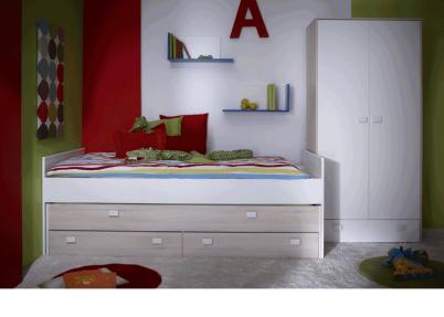Witte 2 deurs kledingkast met onderlade kasten - Kleur van meisjeskamers ...