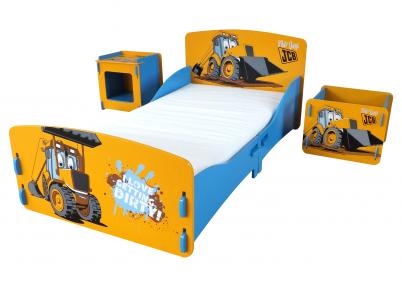 Joey jcb tractor kinderkamer set kinderbedden - Eigentijdse nachtkastje ...