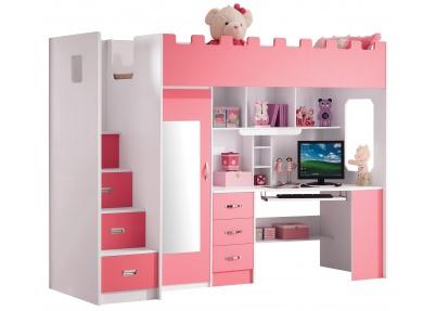 Roze hoogslaper voor meisjes 39 chica 39 halfhoogslapers en hoogslapers - Slaapkamer van een meisje ...