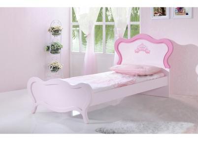 Meisjes Bed 90x200.Roze Meisjes Kinderbed Prinses Kinderbedden Jeeigenkamer Nl