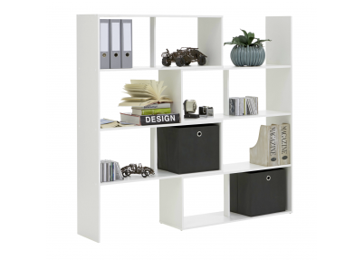 Brede boekenkast of roomdivider Flex wit