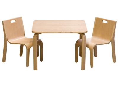 Tafelset wave naturel voor kinderen tafeltjes en stoelen