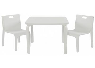 Tafelset wave wit voor kinderen tafeltjes en stoelen