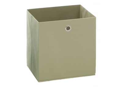 Opbergbox Fleck in effen creme natuur wit, beige met metalen ring