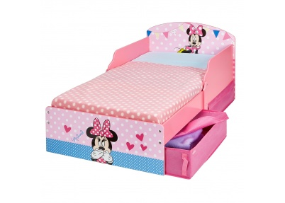 Minnie Mouse peuterbed met 1 geopende lade