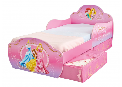 Kinderbed Princess met opberglades