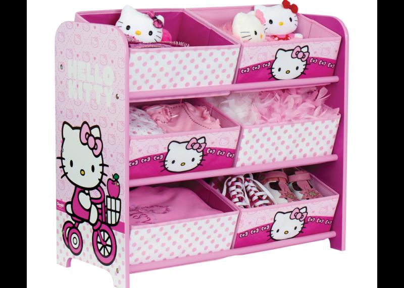 Hello Kitty opbergrek  Speelgoedkisten en opbergkisten  JeEigenKamer ...