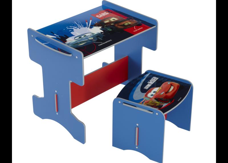 cars bureau met krukje blauw rood bureaus. Black Bedroom Furniture Sets. Home Design Ideas