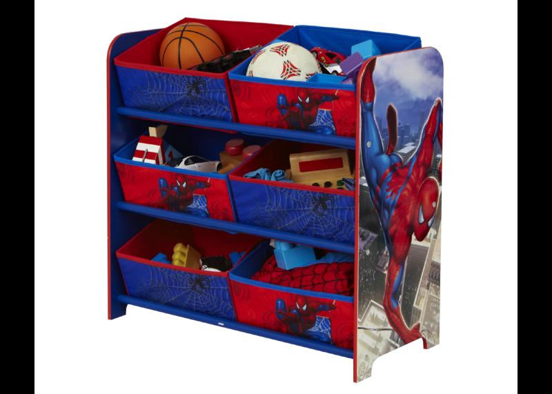 spiderman opbergrek voor spiderman kamer speelgoedkisten. Black Bedroom Furniture Sets. Home Design Ideas