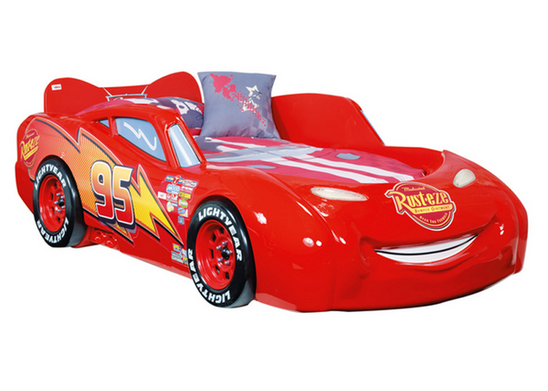 Cars Bett 90x200: Disney Cars Piston Cup Autobed Met Matras