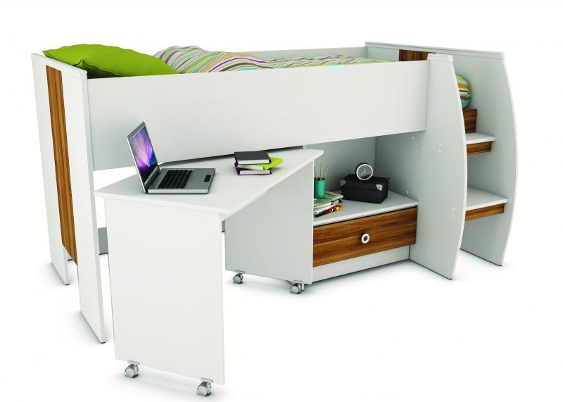 Compacte halfhoogslaper met bureau  Halfhoogslapers en hoogslapers ...