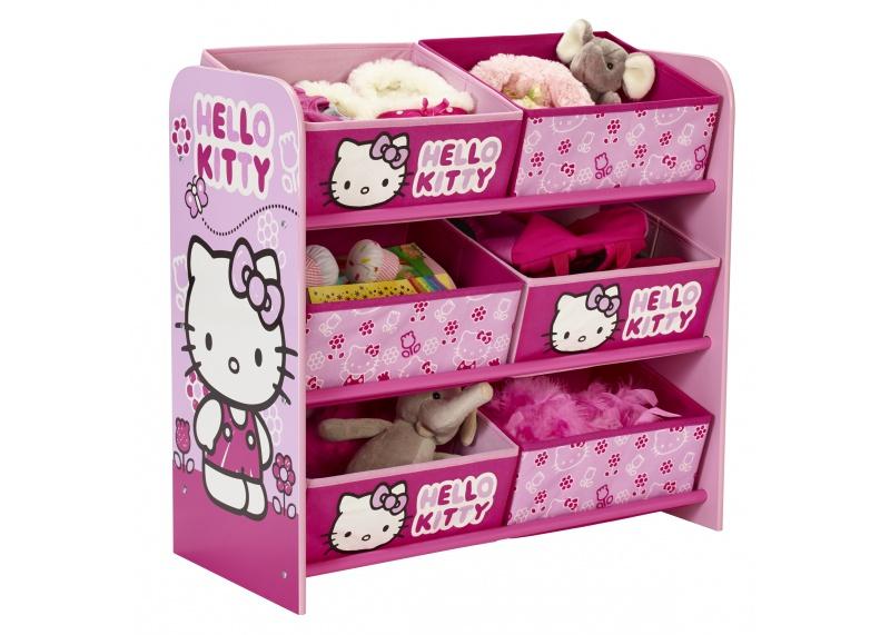 Hello Kitty opbergrek met 6 opbergbakken  Speelgoedkisten en ...