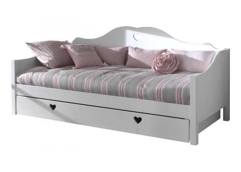 Bedbank 39 sweetheart 39 voor meisjes tienerbedden for Ladeblok wit 3 lades