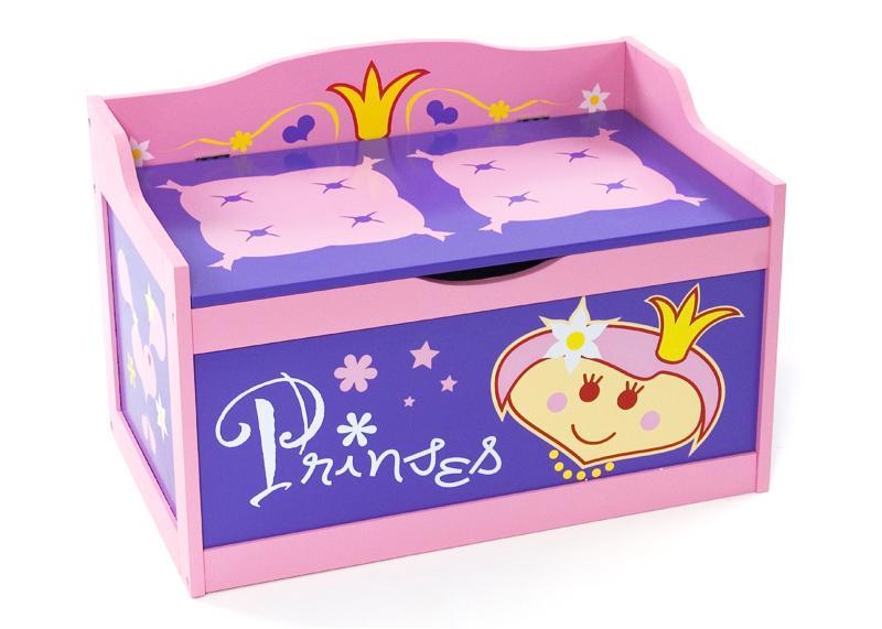 Wit Kinderbankje Met Klep.Speelgoedkist En Bankje Prinses Speelgoedkisten En Opbergkisten