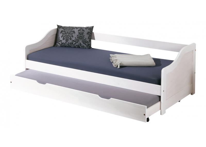 tienerbed bedbank met bedlade 39 sofi 39 wit tienerbedden. Black Bedroom Furniture Sets. Home Design Ideas