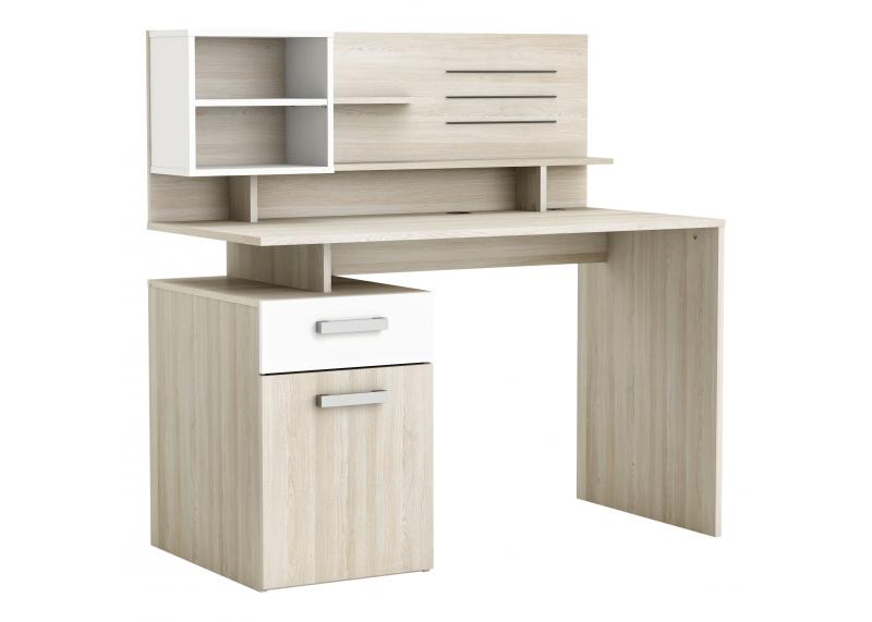 tienerbureau 39 square 39 met achterwand acacia bureaus. Black Bedroom Furniture Sets. Home Design Ideas