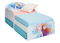 Kinderbed Frozen wit met lades