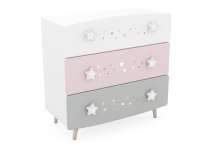 zijaanzicht links commode Starry Night met 3 grote lades