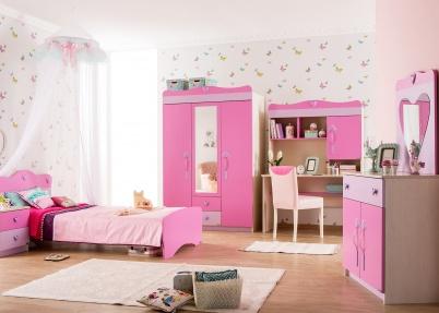 Romantische meisjeskamer met hartjes meisjeskamers jongenskamers - Slaapkamer kleur meisje ...