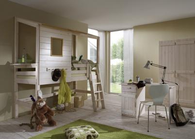 Complete Peuter Slaapkamer : Complete boomhut slaapkamer met hoog bed meisjeskamers