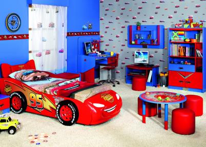Echte Cars Lightning McQueen kinderkamer | Meisjeskamers ...