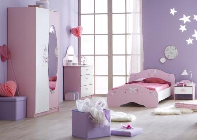 Zachtroze met witte meisjeskamer 39 butterfly 39 meisjeskamers jongenskamers - Deco slaapkamer meisje en jongen ...