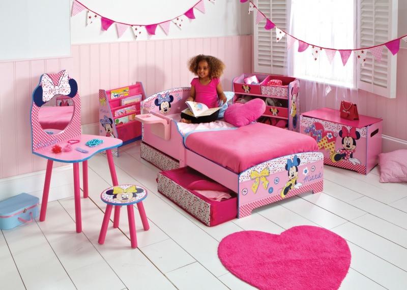 Schattige minnie mouse kamer voor meisjes meisjeskamers jongenskamers - Decoratie slaapkamer meisje jaar ...