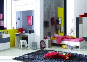 Nachtkastje 39 urban 39 ladekastjes en nachtkastjes - Moderne tienerslaapkamer ...